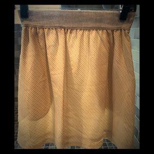 Momoni (Italian brand) striped yellow skirt